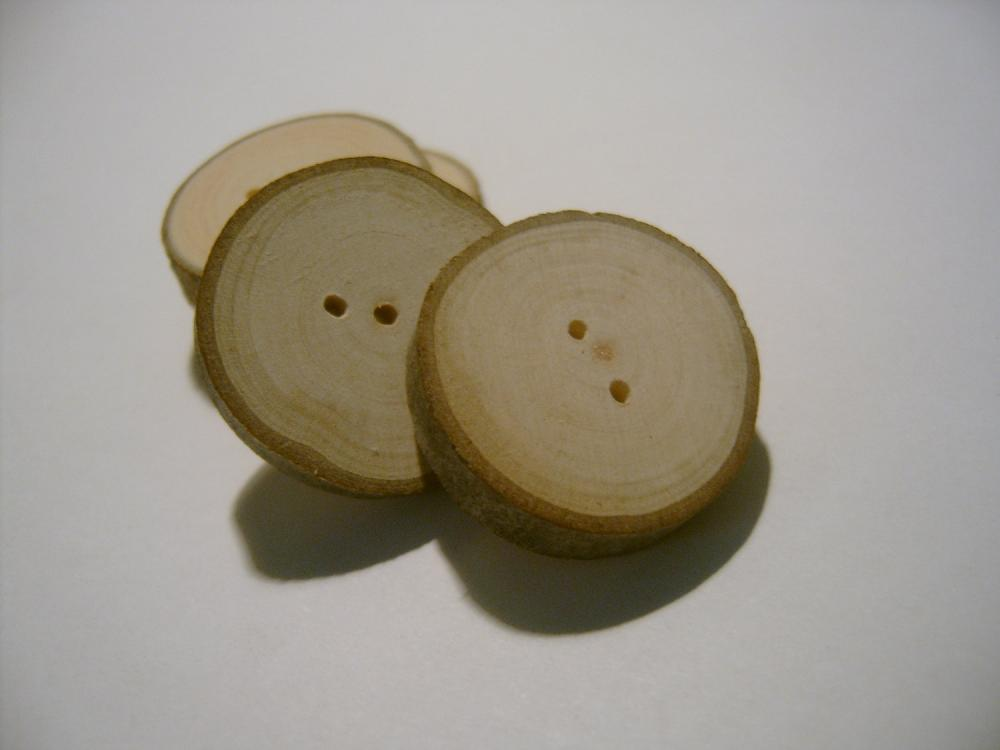 110 Tree Branch Buttons Wooden Wedding Button 1 inch