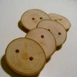 Handmade Wooden Tree Branch Buttons